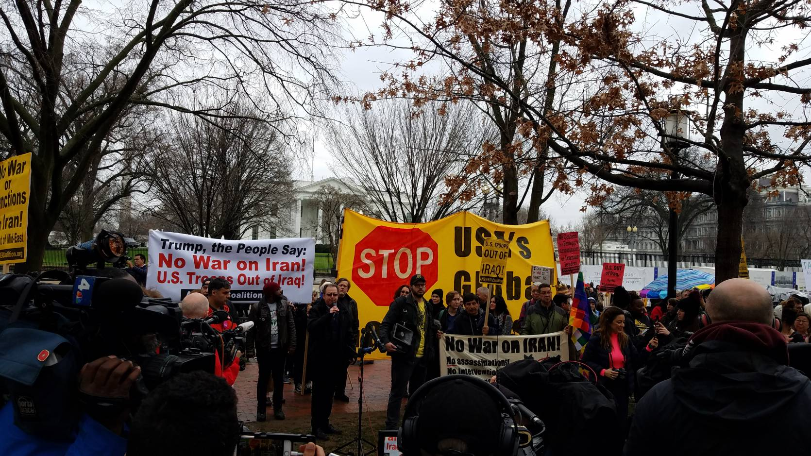 Thousands march Washington, D.C. streets against Trump's drive for war with Iran
