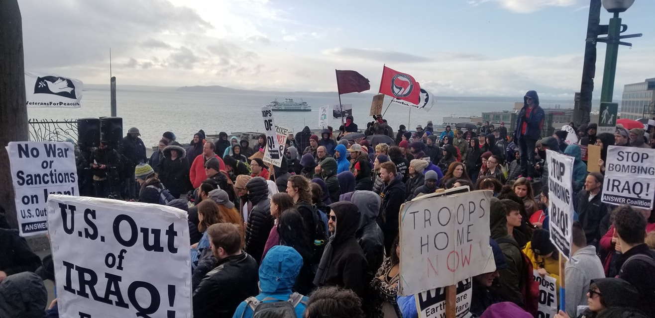 Photo of Hundreds of protesters for peace come out in Pacific Northwest Jan. 4