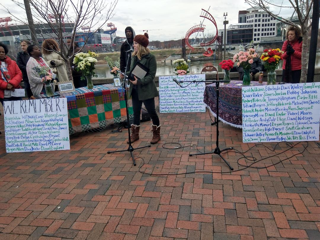 Photo of Nashville ceremony memorializes homeless