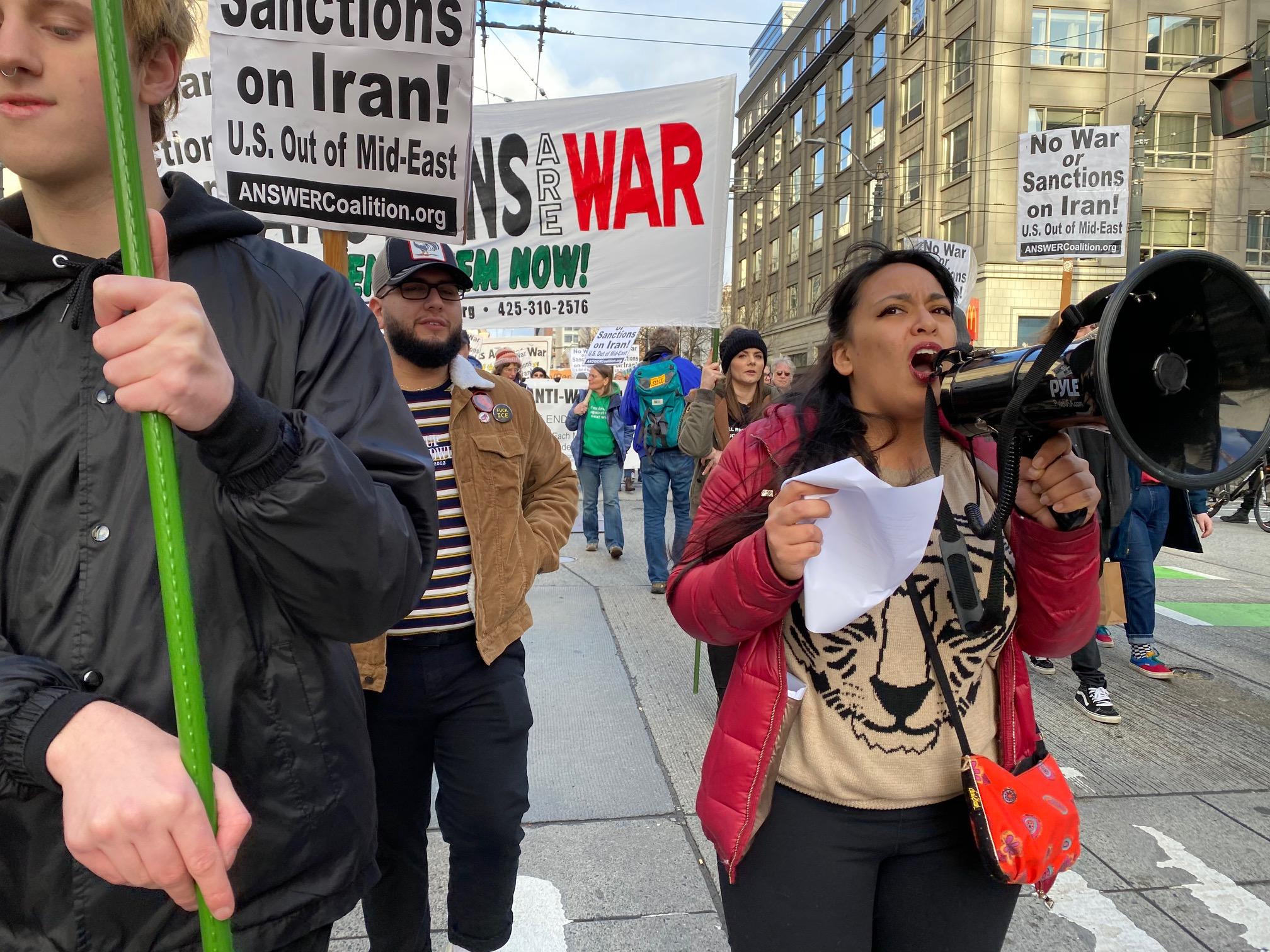 Northwest protests demand No War on Iran!
