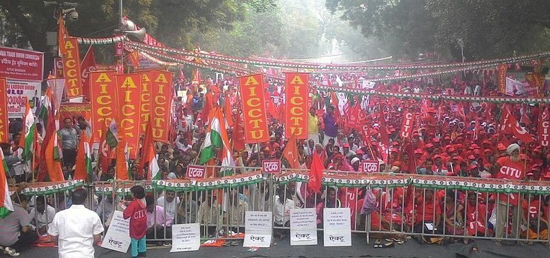 Largest ever strike: Indian workers show strength against the far-right government