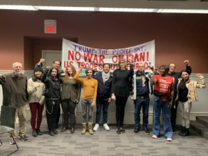 A teach-in held at the New Haven Library on imperialism in the Middle East and the wars at home.