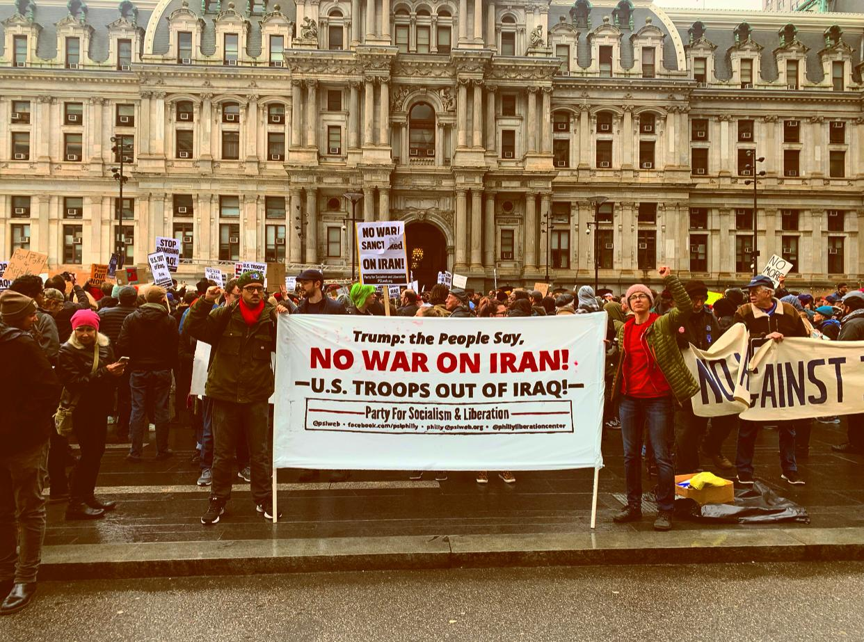Photo of Demonstrations break out across Pennsylvania to oppose U.S. war drive