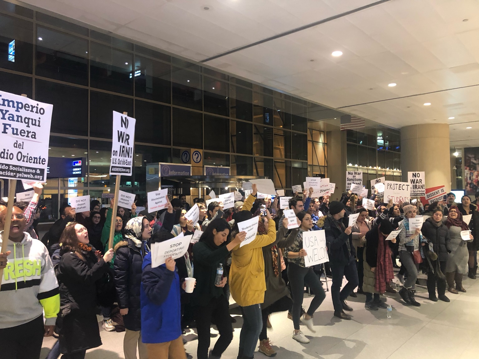 Photo of Protests denounce deportation of Iranian student from Boston Logan Airport
