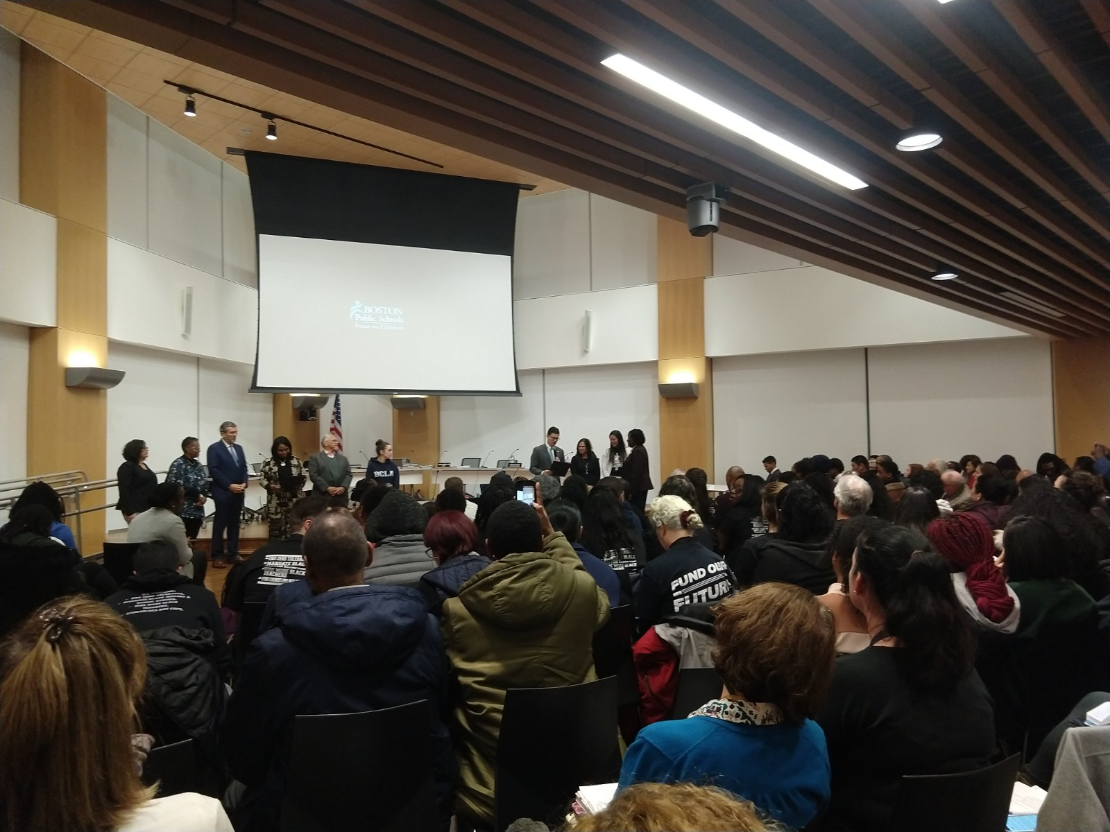 Photo of Students, teachers speak at Boston School Committee in support of Black Lives Matter at School