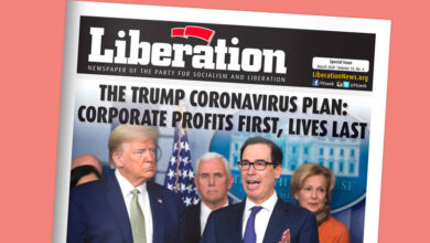 Photo of SPECIAL ISSUE of Liberation Newspaper on Coronavirus: People's Needs vs. Wall St. Greed