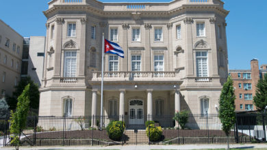 Photo of Cuban statement regarding attack on Cuban Embassy