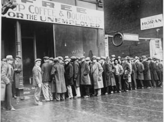 Unemployed workers in 1931. Some estimates suggest unemployment during the current crisis will be worse than during the Great Depression.