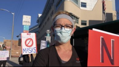 Photo of Sindicato de enfermeros lidera una protesta fuera de su hospital, en Nuevo México, exigiendo mejoras de protección