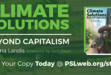 Photo of New PSL book: 'Climate Solutions: Beyond Capitalism'