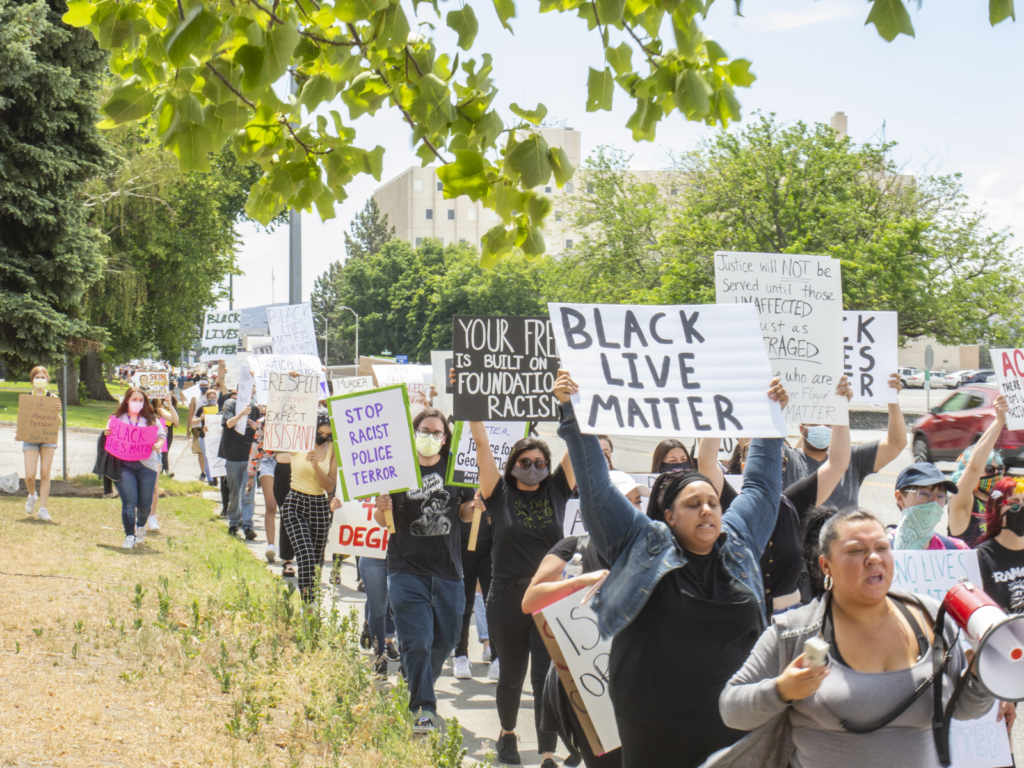 May 30, Justice for George Floyd march in Richland, Wa. Liberation photo.