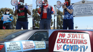 Photo of Bay Area car caravan: Stop state executions by COVID-19!