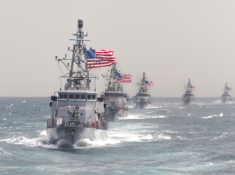 Warships take part in an exercise. Photo: U.S. Navy