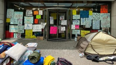 Photo of University of Chicago students stage sit-in to defund private police force