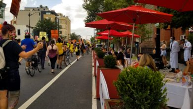 Photo of Washington, D.C. march in solidarity with Portlanders fighting against racist police terror