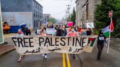 Photo of 'Palestine is here in New Hampshire'