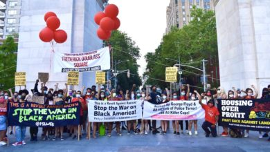 Photo of NYC activists rename Washington Square Park 'Frederick Douglass Square'