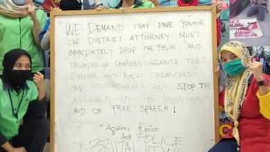 "Photo of Indonesian trade union FSEBUMI supports Denver activists: ""Racism must be fought with the power of solidarity"""