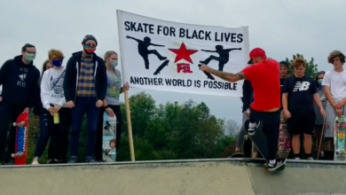 "Photo of Chester County, PA activists hold ""Skate for Black Lives"" event"
