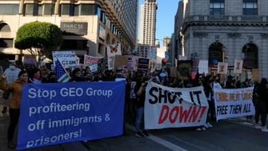 Photo of Hundreds in San Francisco march to protest ICE