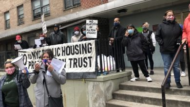 Photo of As real estate wolves circle, determined Fulton NYCHA tenants keep organizing