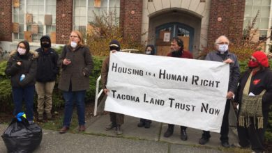 Photo of Tacoma, Wa. activists take over vacant school for emergency housing
