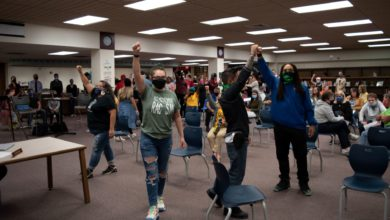 Photo of Anti-racist protesters shut down Wisconsin school board meeting