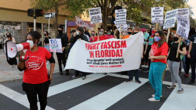 Photo of St. Pete protests Desantis' draconian anti-BLM protester bill