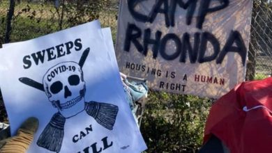 Photo of Dallas plans to sweep Camp Rhonda, a symbol of houseless organizing