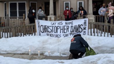 A candlelight vigil was held to demand justice for Christopher Davis who was killed by Milwaukee-area police in 2016. Liberation photo