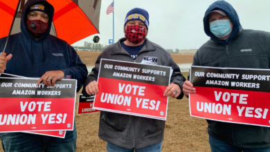 Photo of Bessemer, Alabama, community rallies for Amazon workers' union
