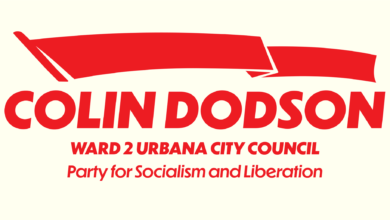 Photo of PSL's Colin Dodson runs for Urbana, Illinois, City Council