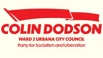 Colin Dodson campaign banner