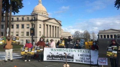 Photo of Poor People's Campaign demonstrates for priorities in 30 state capitols