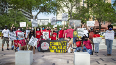 Photo of Tampa Bay activists condemn Desantis' anti-protest bill: 'Kill the bill before it kills us!'