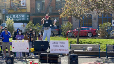 Photo of San Francisco students hold 'Action Towards Change' rally against anti-Asian racism