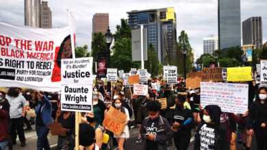 Photo of Hundreds march in Atlanta for Daunte Wright
