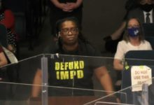 Jess Louise of Indy10 Black Lives Matter speaks to the Indianapolis City Council. Photo credit: Indy.gov Channel 16