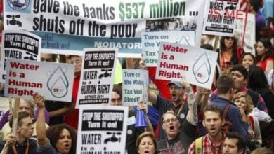 Detroit's Revised Charter would stop water shutoffs and demand reparations from the banks. Liberation photo