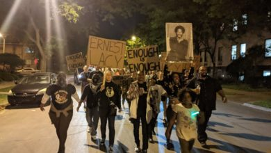 Milwaukee activists commemorate the police killing of Ernest Lacy in 1981. Liberation photo