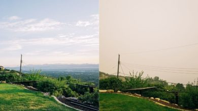 Photo: Before and after smoke and pollution overtook the Salt Lake Valley. Photo cred: Sergio Gomes